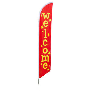 "Pre Printed ""Welcome"" Flag"